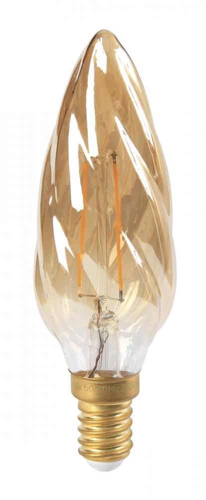 Ampoule flamme LED 4W torsadée ambre