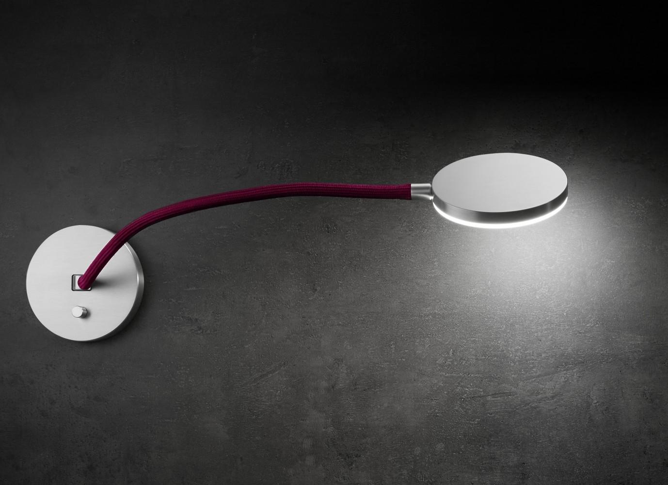 Led Tete De Lit applique led tête de lit flex 12w alu / rouge