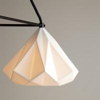 Suspension Hatton 1 Triangular - Blanc / Câble noir