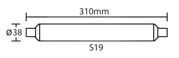 Tube LED S19 6W (540 lm) L.310