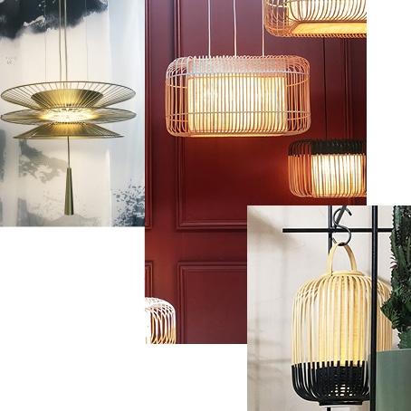 Luminaires Forestier design